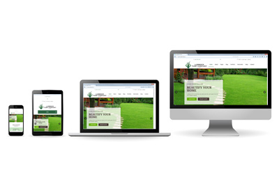 The Lubbock Turf Website on Various Devices